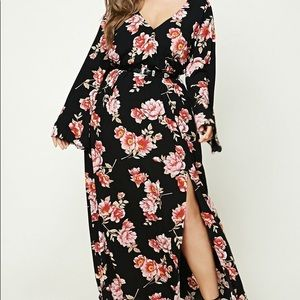 F21 plus size floral maxi dress